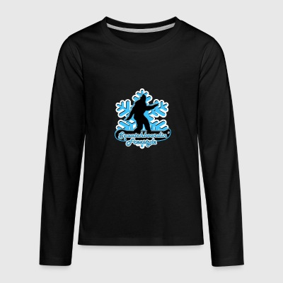 Squatchboardin' Freestyle Kids' Premium Long Sleev - Kids' Premium Long Sleeve T-Shirt