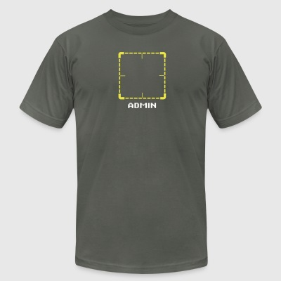reticle_normal T-Shirts - Men's T-Shirt by American Apparel