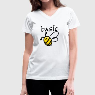 Basic Bee - Women's V-Neck T-Shirt