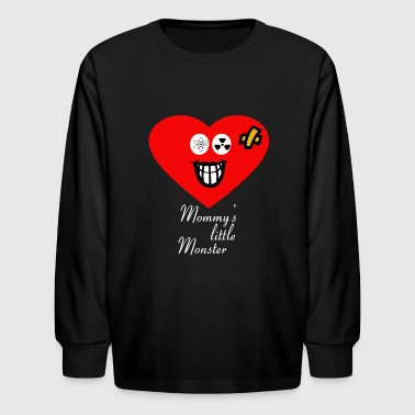 Mommy's Little Monster Valentines Day Gift Idea - Kids' Long Sleeve T-Shirt