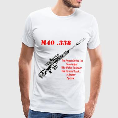 The M40 .338 The Perfect Gift For The Scout-Sniper - Men's Premium T-Shirt
