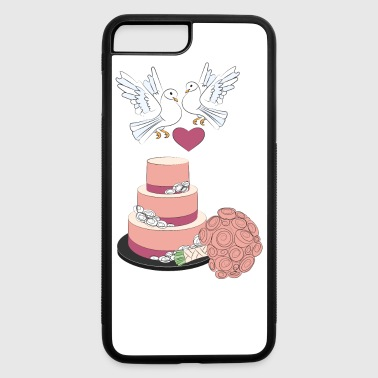 wedding cake and pigeons - iPhone 7 Plus/8 Plus Rubber Case