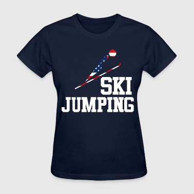 Trendy Cool Sports | USA SKI JUMP Athlete American T-Shirts - Women's T-Shirt