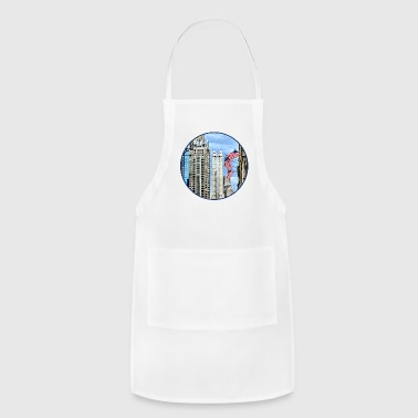 Chicago IL - Flags Along Michigan Avenue Aprons - Adjustable Apron