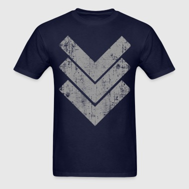 Gray Chevron  - Men's T-Shirt