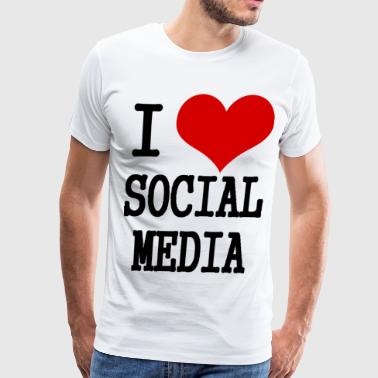 I Love Social Media  - Men's Premium T-Shirt