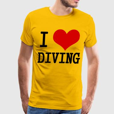 I Love Diving  - Men's Premium T-Shirt
