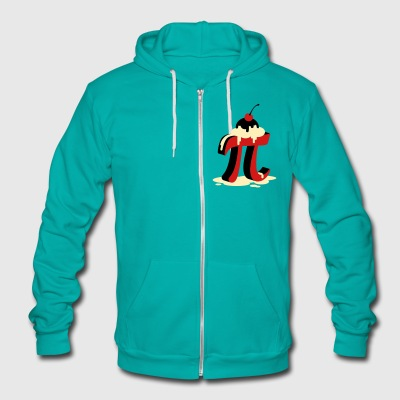 Pi a La Mode - Unisex Fleece Zip Hoodie by American Apparel