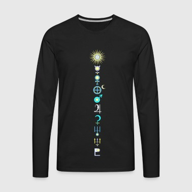 Nine planets sun and moon 2 - Men's Premium Long Sleeve T-Shirt