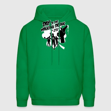 Day of the walking drunk St Patricks day Zombies Hoodies - Men's Hoodie