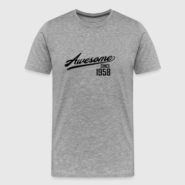 Awesome Since 1958 T-Shirts - Men's Premium T-Shirt