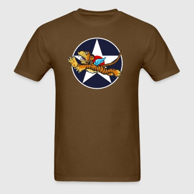 WWII Flying Tiger with Army Air Corps Star - Men's T-Shirt