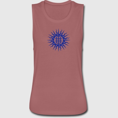 TEMPLAR SUN CROSS 1 - Women's Flowy Muscle Tank by Bella