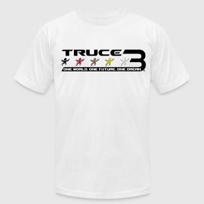 TRUCE 3 World Peace T-shirts & Apparel -  Wide T-Shirts - Men's T-Shirt by American Apparel