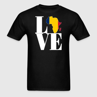 Chadian pride I love Chad flag Africa t-shirt - Men's T-Shirt
