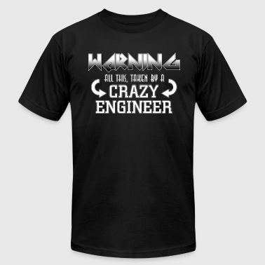 Warning Crazy Engineer - Men's Fine Jersey T-Shirt