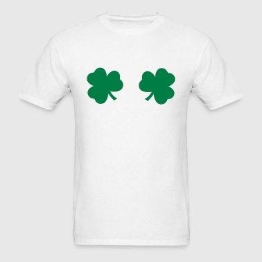 Shamrock Boobs Bra St. Paddy's Day T-Shirts - Men's T-Shirt