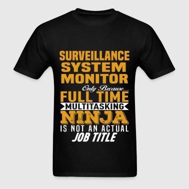 Surveillance System Monitor - Men's T-Shirt
