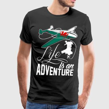Welsh Life Is An Adventure T-Shirts - Men's Premium T-Shirt