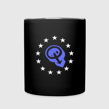 Q Anon stars 2 - Full Color Mug