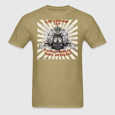 The League of Extraordinary Beer Drinkers Crest T- - Men's T-Shirt