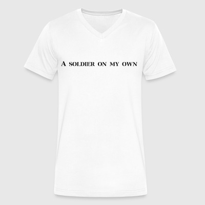 A soldier on my own - Men's V-Neck T-Shirt by Canvas