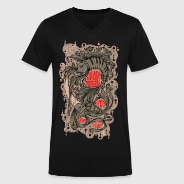 BLACK HEART PROCESSION  - Men's V-Neck T-Shirt by Canvas