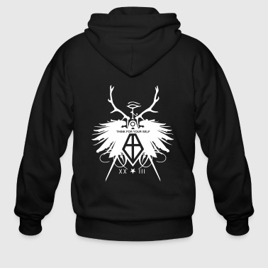 Illuminati Freemason Compass Wings Zip Hoodies/Jackets - Men's Zip Hoodie