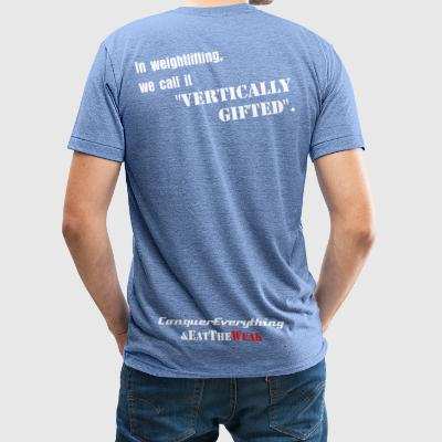 Vertically Gifted - Unisex Tri-Blend T-Shirt by American Apparel