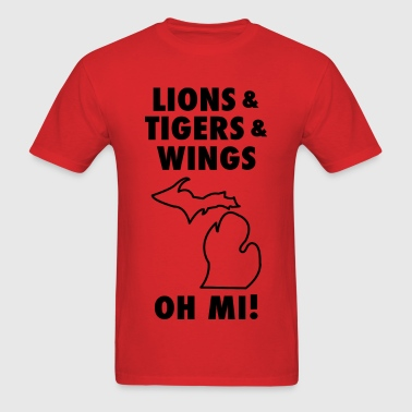 Lions & Tigers & Wings Oh MI! black - Men's T-Shirt
