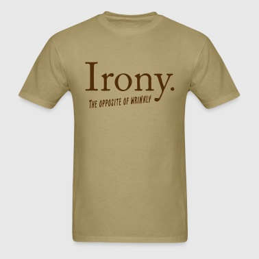 Irony definition - Men's T-Shirt