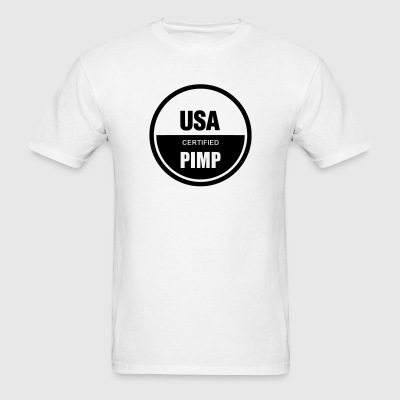 USA Pimp - Black Text - Men's T-Shirt