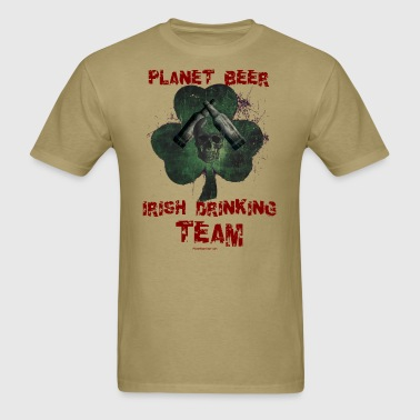 Planet Beer Irish Drinking Team Men's T-Shirt (Dou - Men's T-Shirt