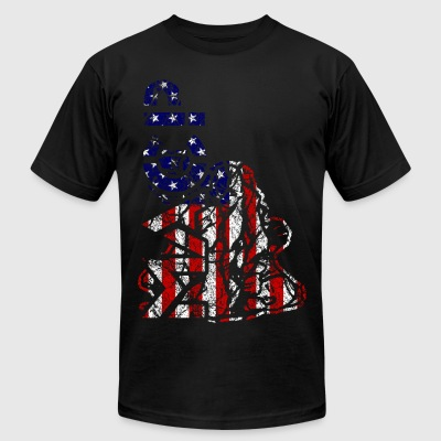 MACP Fighter Flag Distressed Slim Fit - Men's T-Shirt by American Apparel