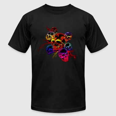 Colored Skulls - Men's T-Shirt by American Apparel