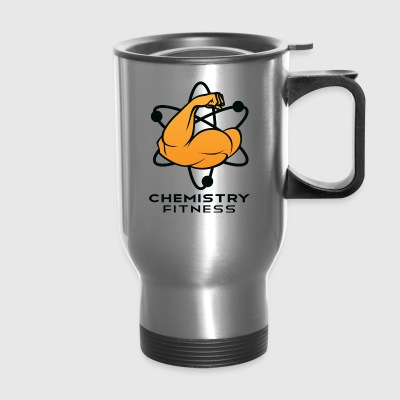 Chemistry Fitness logo (black) Bottles & Mugs - Travel Mug