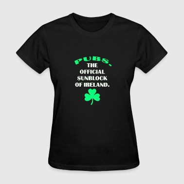 Pubs. The Official Sunscreen of Ireland - Women's T-Shirt