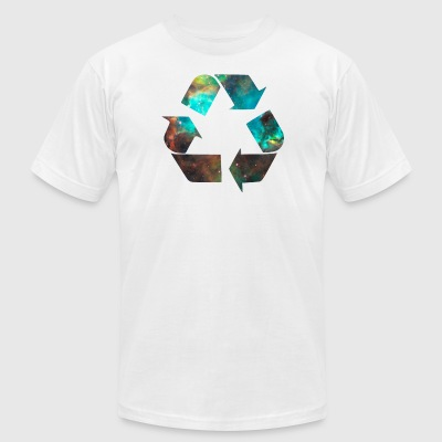 Recycle Stardust Nebula - Men's T-Shirt by American Apparel