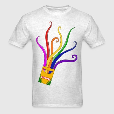 Tentacle Crayons - Men's T-Shirt