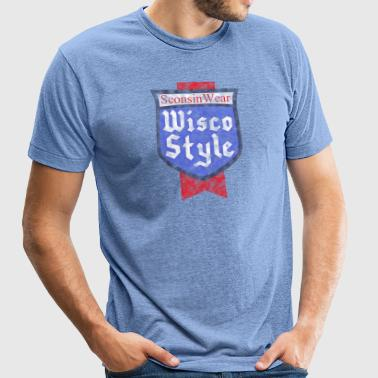 Sconsinwear Wisco Style T-Shirts - Unisex Tri-Blend T-Shirt by American Apparel