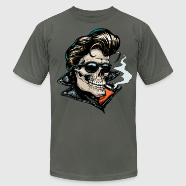 Rockabilly Skull T-shirt - Men's Fine Jersey T-Shirt