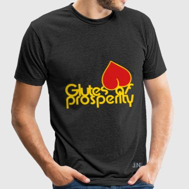 Glutes Of Prosperity T-Shirts - Unisex Tri-Blend T-Shirt by American Apparel
