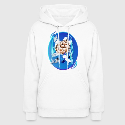 Big White Turtle and Friends Oval - Women's Hoodie