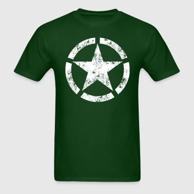 Distressed Broken Ring Star National Symbol - Men's T-Shirt