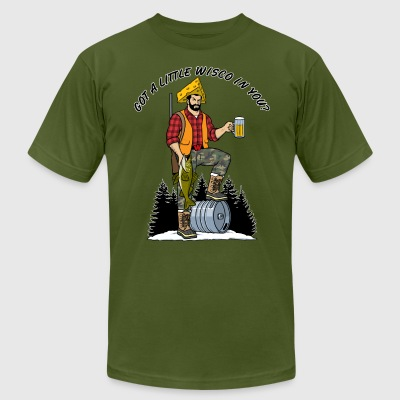 Sconsinwear Captain Northwoods T-Shirts - Men's T-Shirt by American Apparel