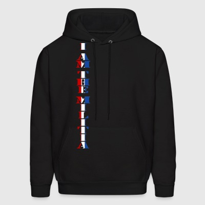 I Am the Militia Mens Hoodie (Vertical Block) - Men's Hoodie