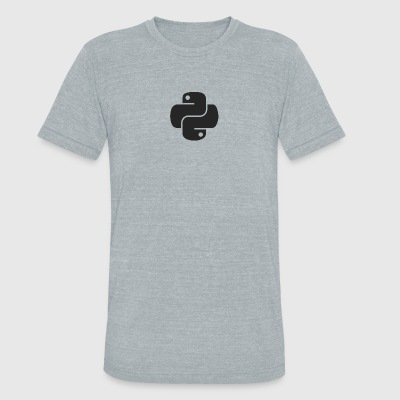 Darker python logo on nice gray shirt - Unisex Tri-Blend T-Shirt by American Apparel