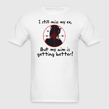 I still miss my ex 1 side (male) - Men's T-Shirt