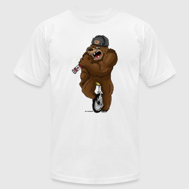 Russian Bear - Men's T-Shirt by American Apparel