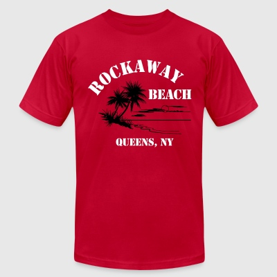 Ramones Rockaway Beach Tee - Men's T-Shirt by American Apparel